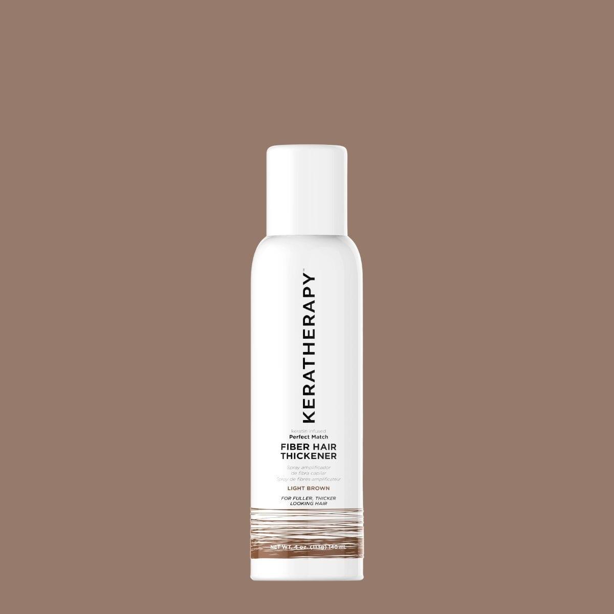 keratherapy fiber hair thickener light brown